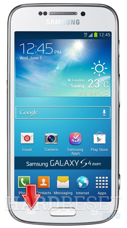 how to get to settings on galaxy s4