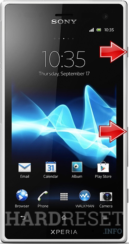 Factory Reset SONY Xperia Arco S