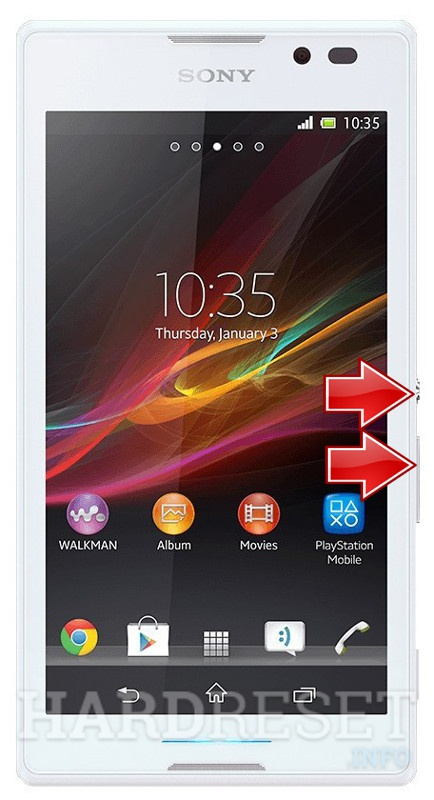Factory Reset SONY Xperia C  C2305 S39h