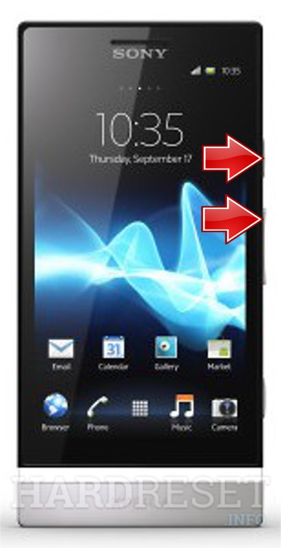 Factory Reset SONY Xperia P LT22