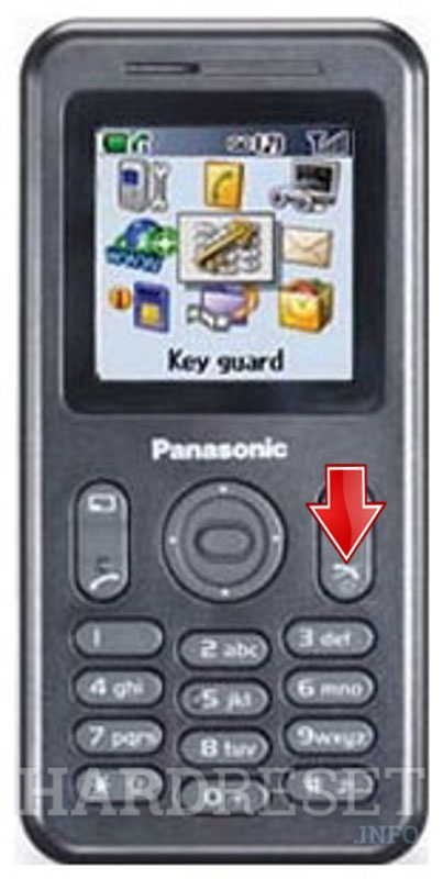 Wipe data on PANASONIC A200