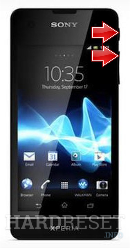 Factory Reset SONY Xperia SX