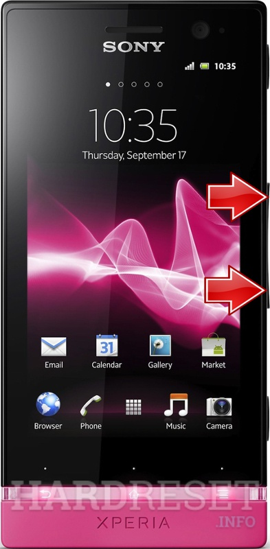 Factory Reset SONY Xperia U ST25