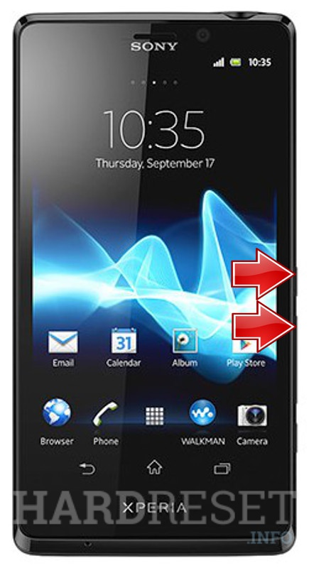 Factory Reset SONY Xperia T LT30p