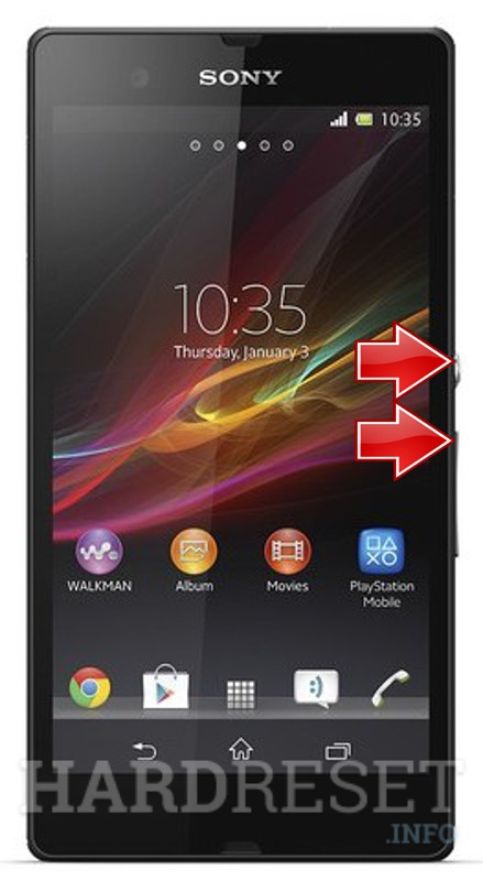 Factory Reset SONY Xperia Z C6603