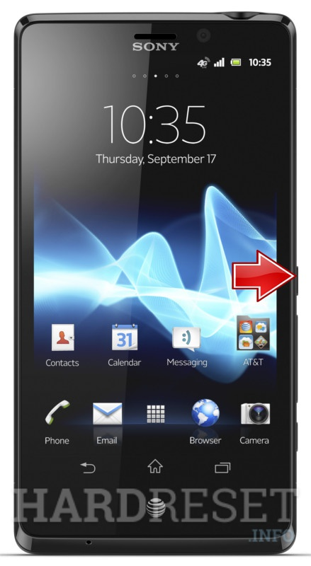 Hard Reset SONY Xperia TL LT30at