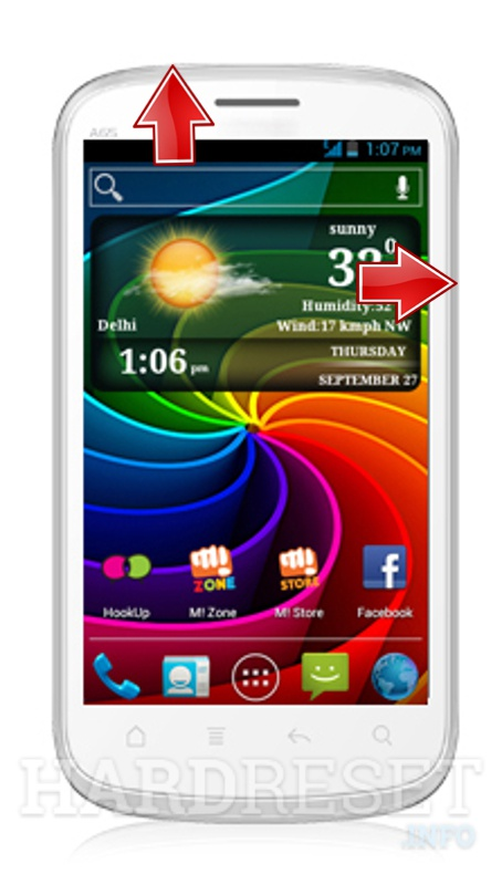 HardReset MICROMAX A65