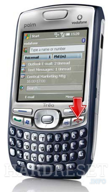Hard Reset PALM Treo 750v (HTV Cheetah)