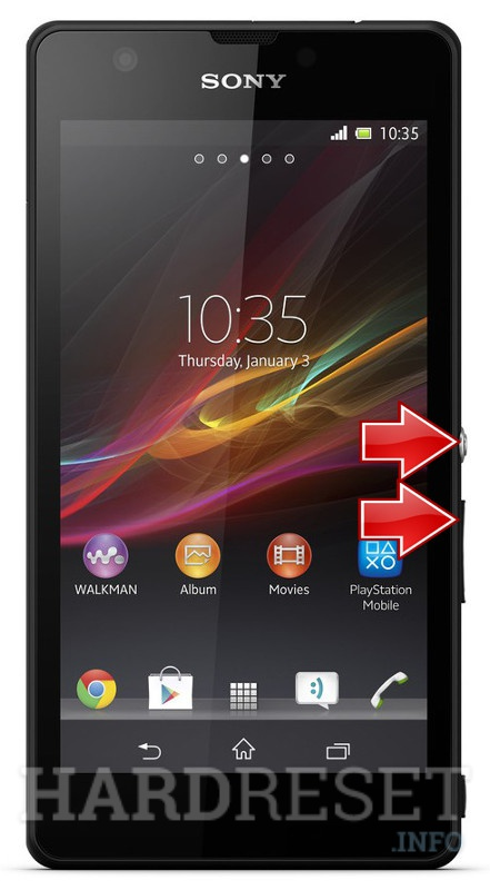 Factory Reset SONY Xperia ZR C5503