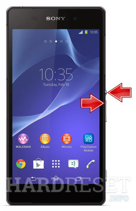 Factory Reset SONY Xperia Z2 D6502