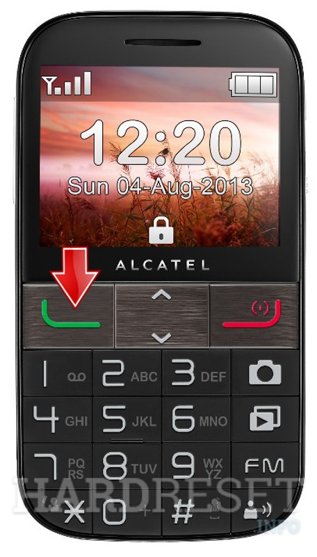 Factory Reset ALCATEL 20.01