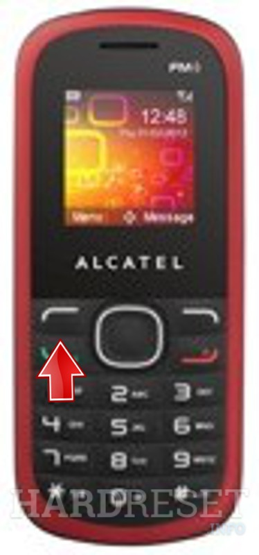 Factory Reset ALCATEL OT-308A