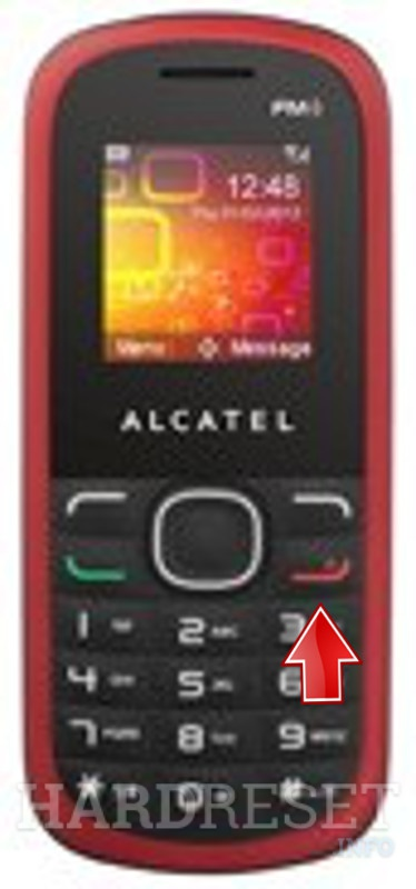 Hard Reset ALCATEL OT-308A