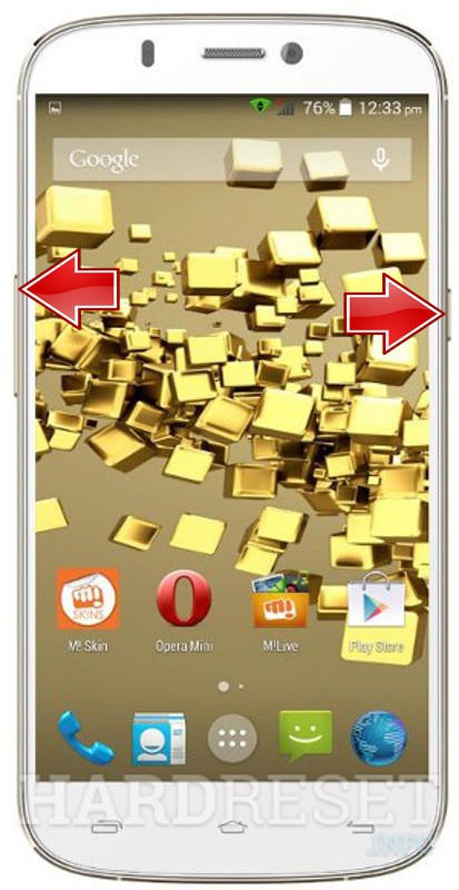 HardReset MICROMAX A300 Canvas Gold