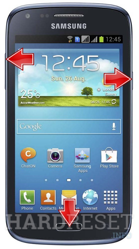 Remove screen password on SAMSUNG I8262B Galaxy Core