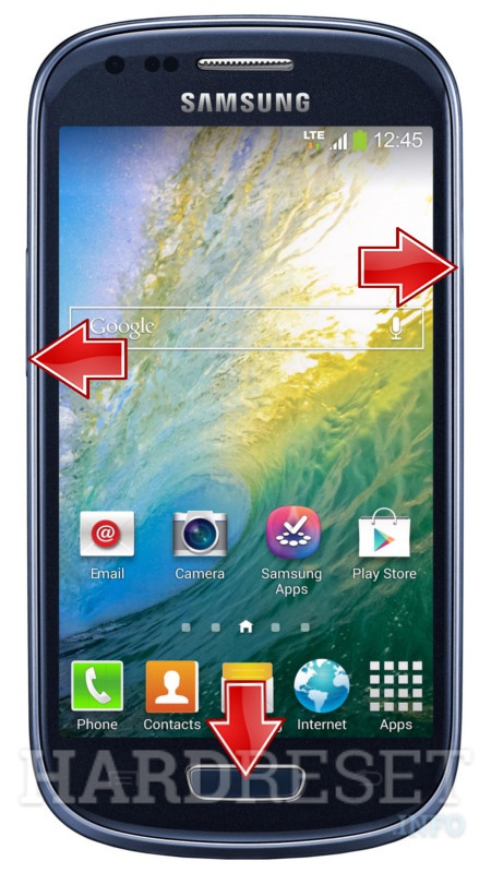 Factory Reset SAMSUNG G730W8 Galaxy S III mini