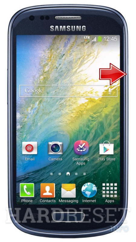Wipe data on SAMSUNG G730W8 Galaxy S III mini