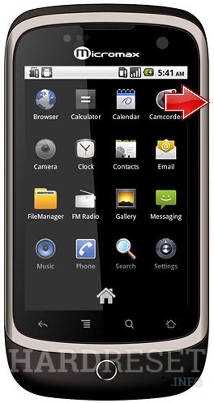 Factory Reset MICROMAX A70