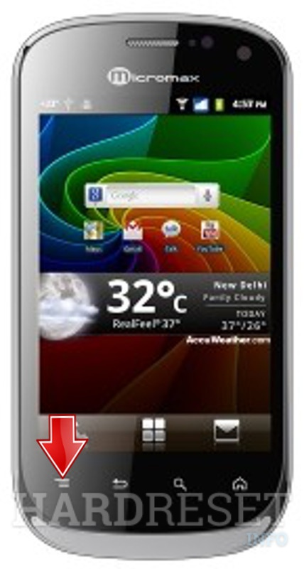 Master Reset MICROMAX A75