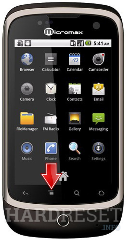 Master Reset MICROMAX A70