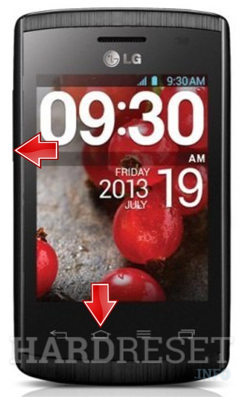 Remove screen password on LG E410 Optimus L1 II