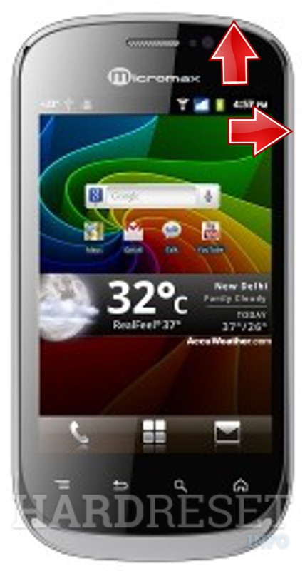 HardReset MICROMAX A75