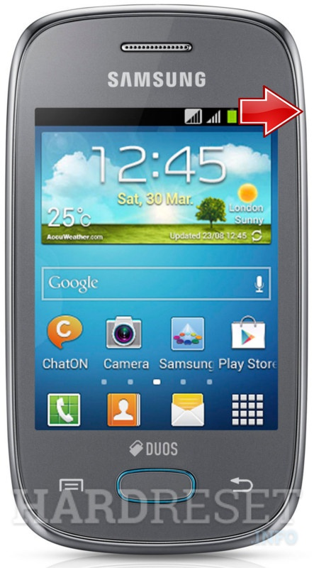 Hard Reset SAMSUNG S5312 Galaxy Pocket Neo