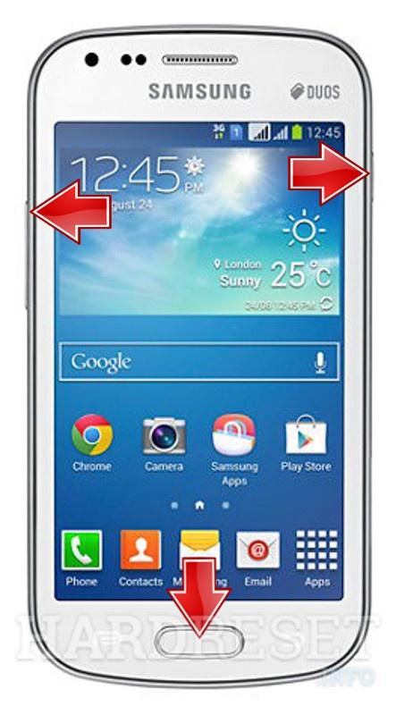 Reset SAMSUNG S7582 Galaxy S Duos 2
