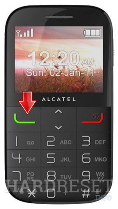 Factory Reset ALCATEL 2000