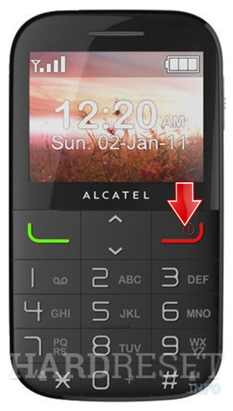 Hard Reset ALCATEL 2000