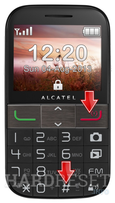 Hard Reset ALCATEL 2001X