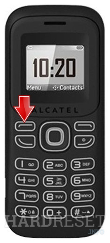 Factory Reset ALCATEL OT-132