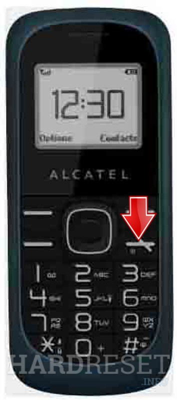 Hard Reset ALCATEL OT-112