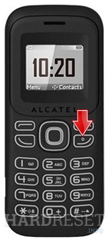 Hard Reset ALCATEL OT-132