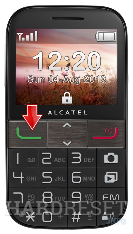 Factory Reset ALCATEL 2001A