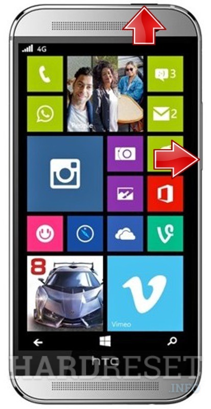HardReset HTC One M8 for Windows