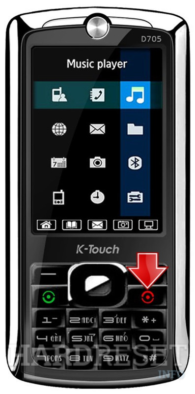 Hard Reset K-TOUCH D705