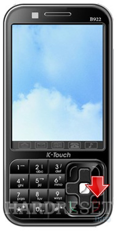 Wipe data on K-TOUCH B922