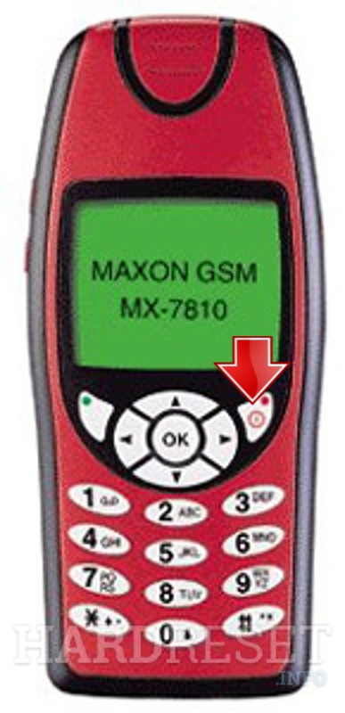 Wipe data on MAXON MX-7810