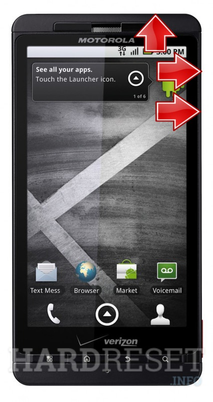 Remove screen password MOTOROLA Droid X2