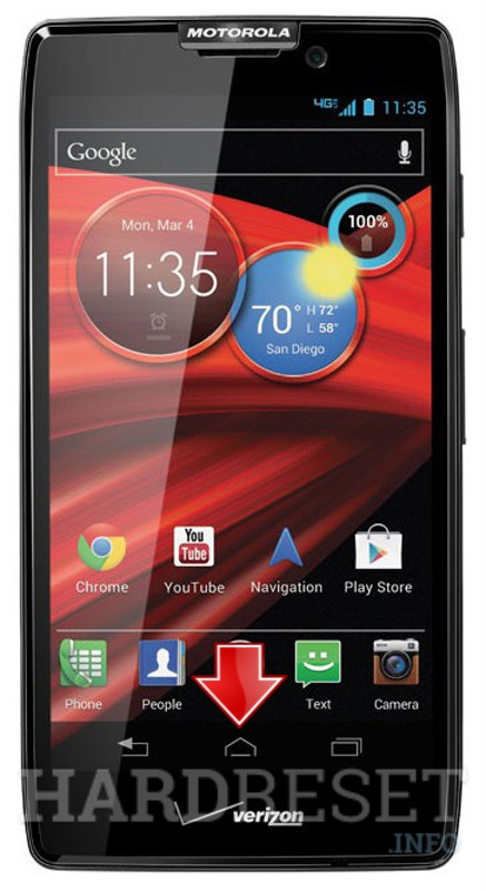 Wipe data MOTOROLA Razr HD Maxx