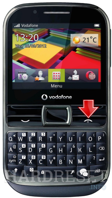 Hard Reset VODAFONE 655 Chat