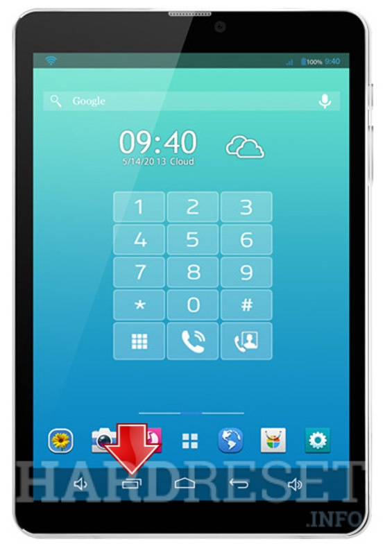 Master Reset XTOUCH PF81 PhoneTab