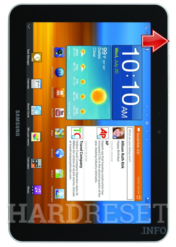 how to hard reset my phone samsung p7300 galaxy tab 8 9 rh hardreset info Asus Tablet Manual PDF Eviant Tablet Manual