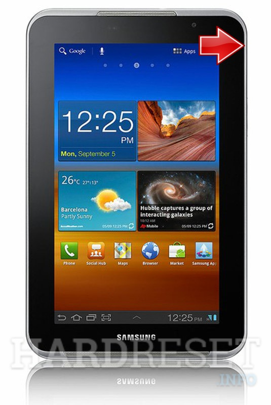 Hard Reset SAMSUNG P6201 Galaxy Tab 7.0 Plus N