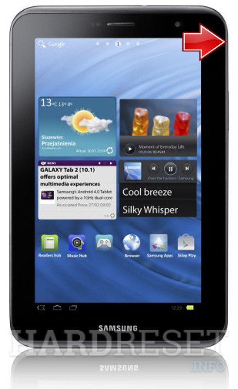how to hard reset my phone samsung p3110 galaxy tab 2 7 0