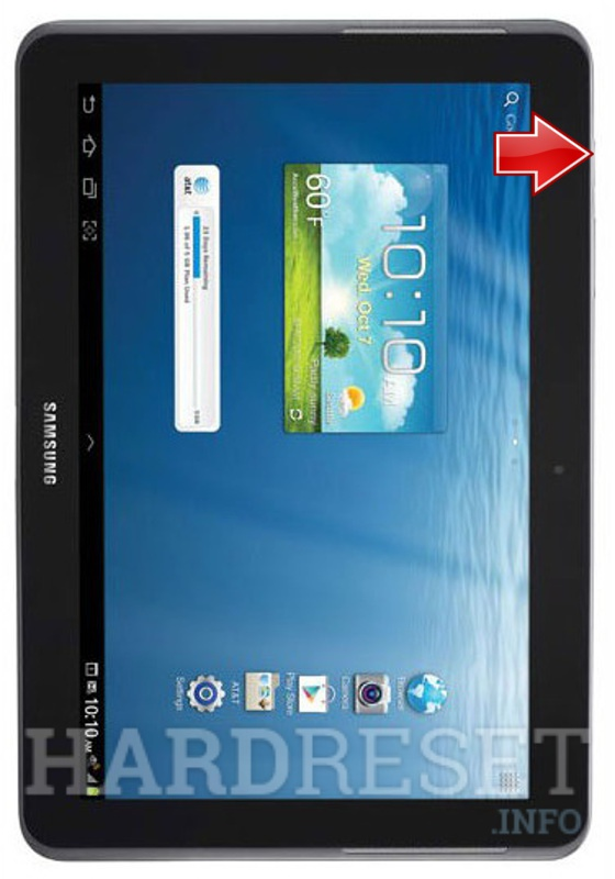 Samsung Galaxy Tablet Tab 2 10.1 AT/&T SGH-i497, JellyBean OS User Manual
