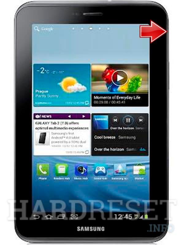 Recovery Mode SAMSUNG P3100 Galaxy Tab 2 7 0 - HardReset info