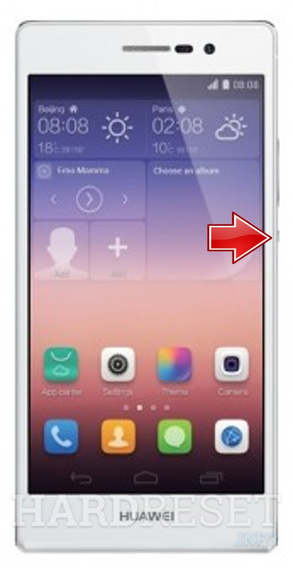 Remove screen password on HUAWEI Ascend P7