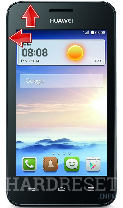 Recovery Mode HUAWEI Ascend Y330 - HardReset info